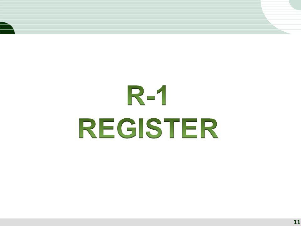 R-1 REGISTER