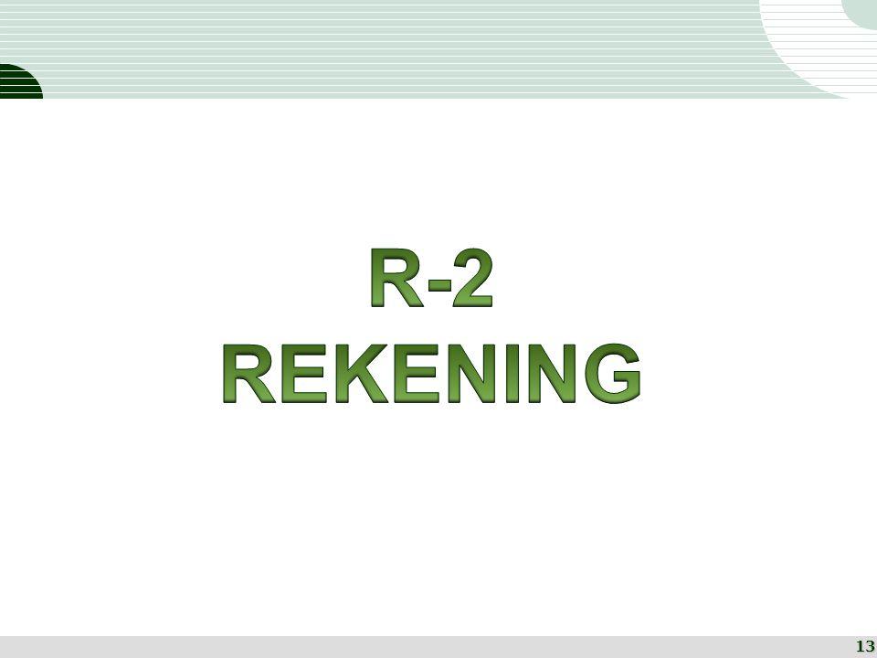 R-2 REKENING