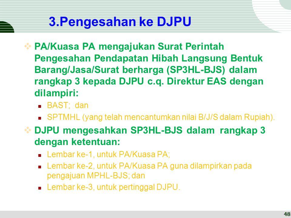 3.Pengesahan ke DJPU