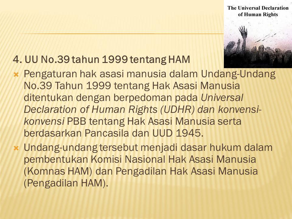 4. UU No.39 tahun 1999 tentang HAM