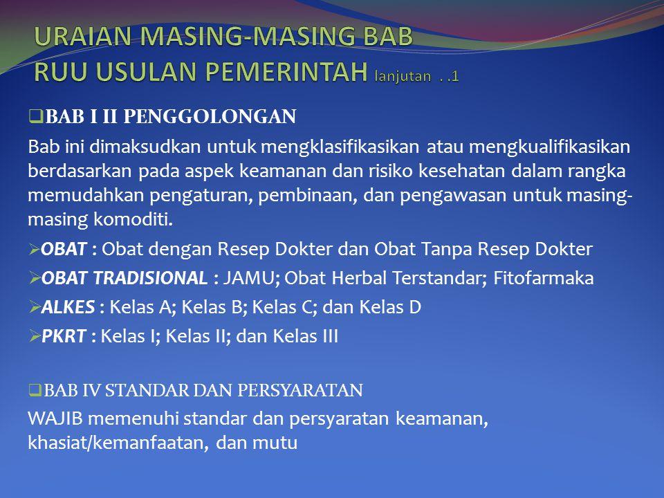 URAIAN MASING-MASING BAB RUU USULAN PEMERINTAH lanjutan . .1