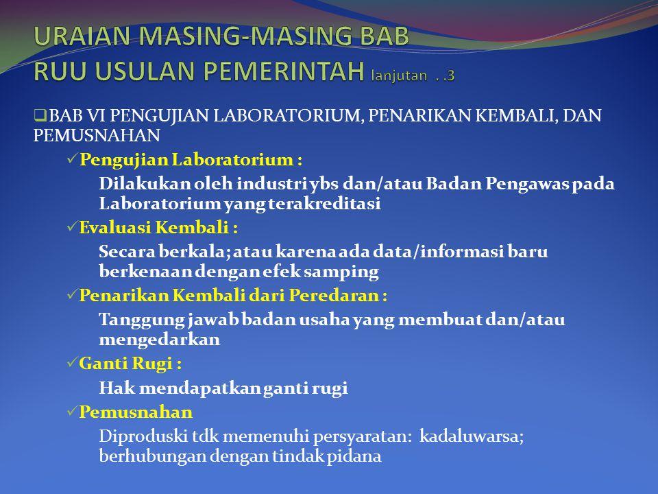 URAIAN MASING-MASING BAB RUU USULAN PEMERINTAH lanjutan . .3