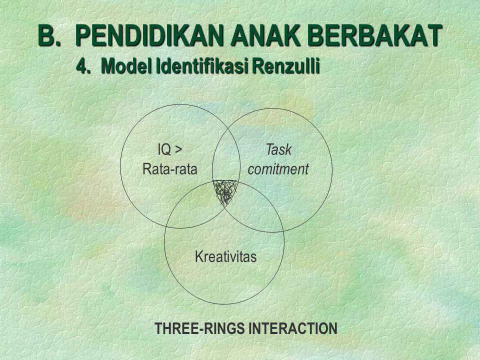 B. PENDIDIKAN ANAK BERBAKAT 4. Model Identifikasi Renzulli