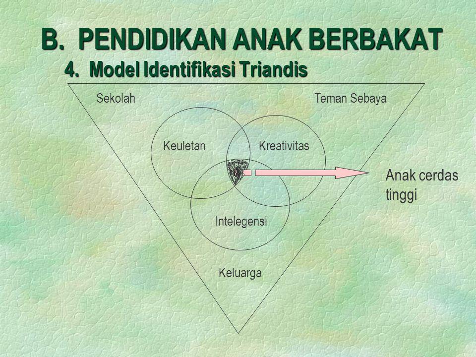 B. PENDIDIKAN ANAK BERBAKAT 4. Model Identifikasi Triandis