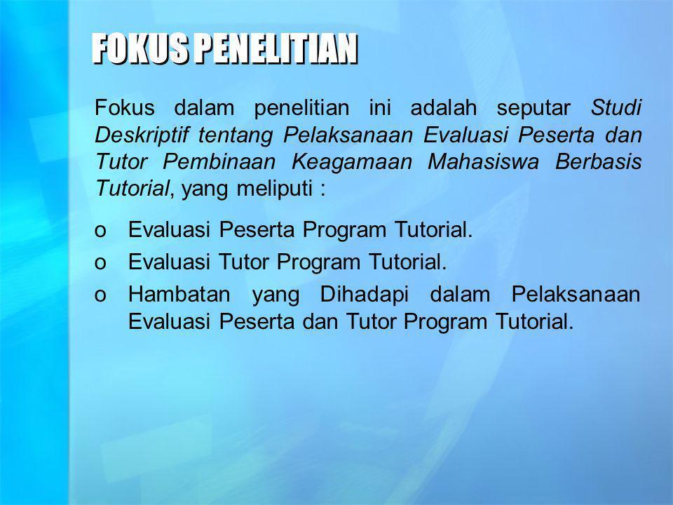 FOKUS PENELITIAN