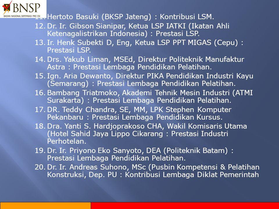 11. Hertoto Basuki (BKSP Jateng) : Kontribusi LSM.
