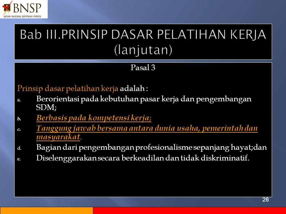 Bab III.PRINSIP DASAR PELATIHAN KERJA (lanjutan)