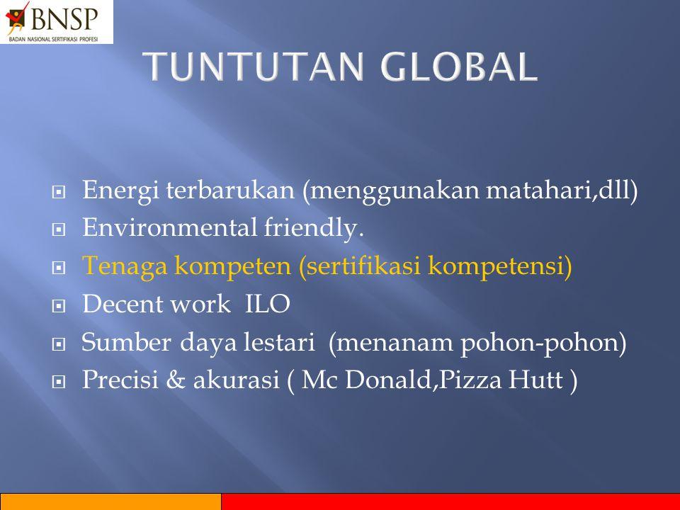 TUNTUTAN GLOBAL Energi terbarukan (menggunakan matahari,dll)