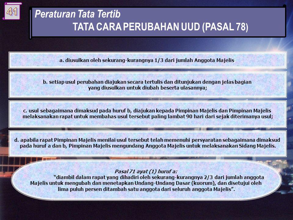 TATA CARA PERUBAHAN UUD (PASAL 78)