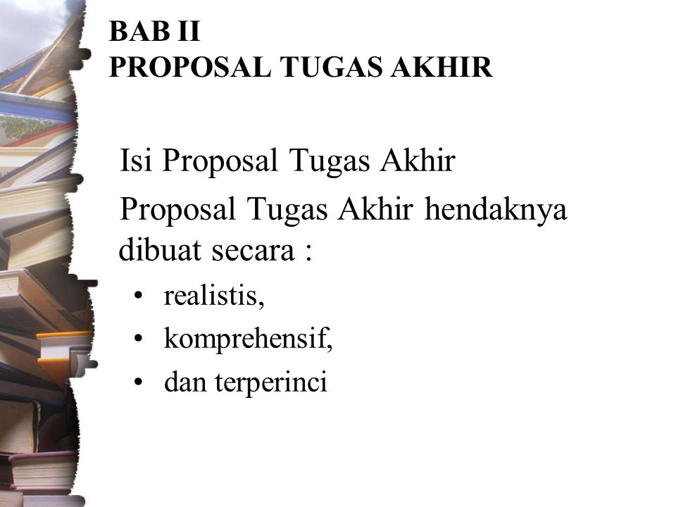 BAB II PROPOSAL TUGAS AKHIR