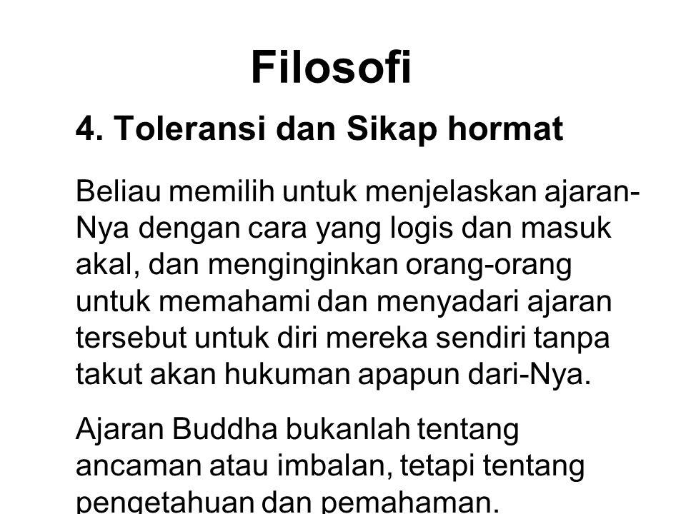Filosofi 4. Toleransi dan Sikap hormat