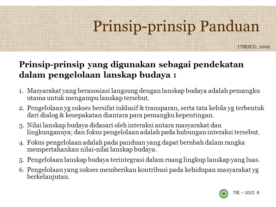 Prinsip-prinsip Panduan