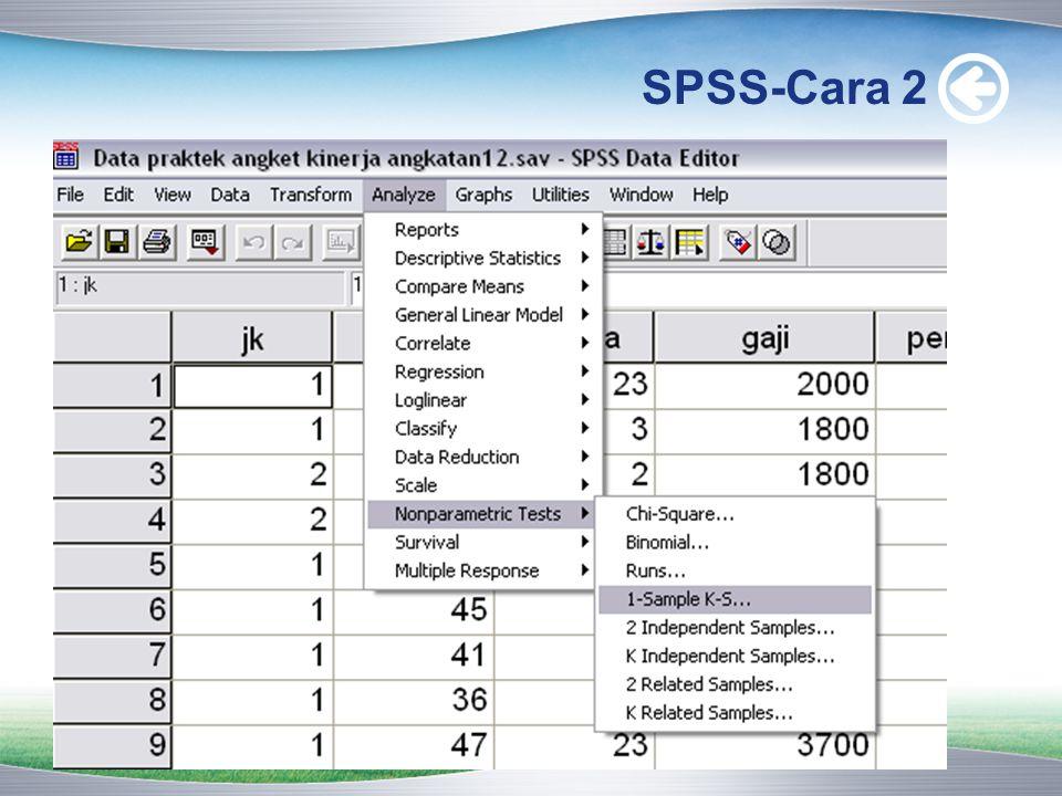 SPSS-Cara 2