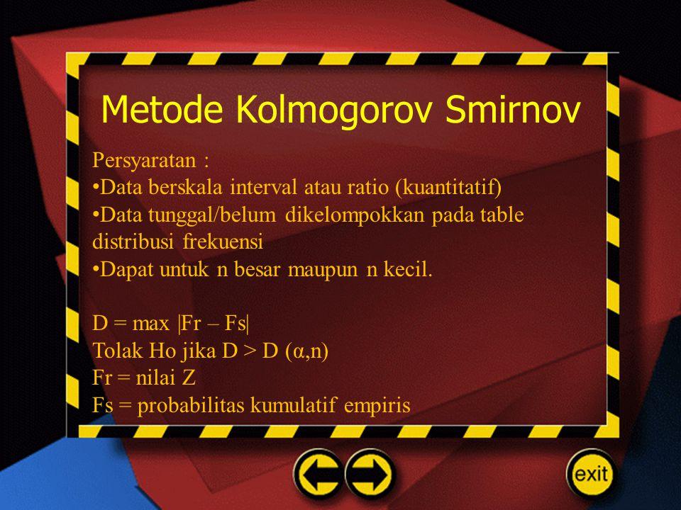 Metode Kolmogorov Smirnov