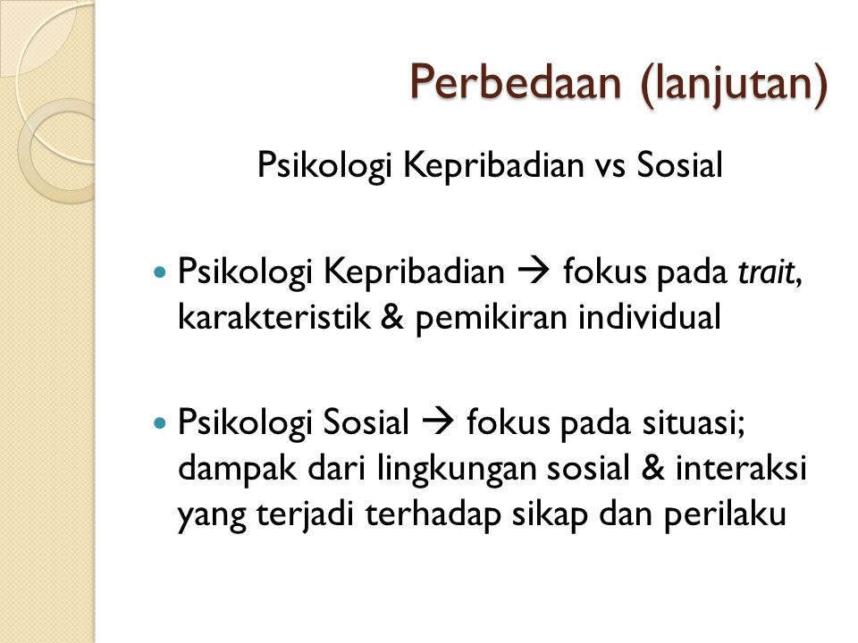 Psikologi Kepribadian vs Sosial