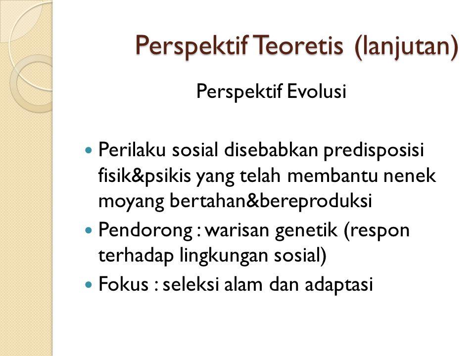 Perspektif Teoretis (lanjutan)
