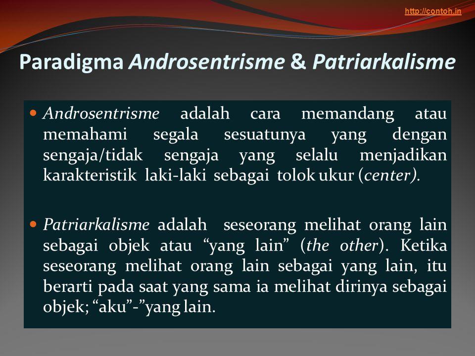 Paradigma Androsentrisme & Patriarkalisme