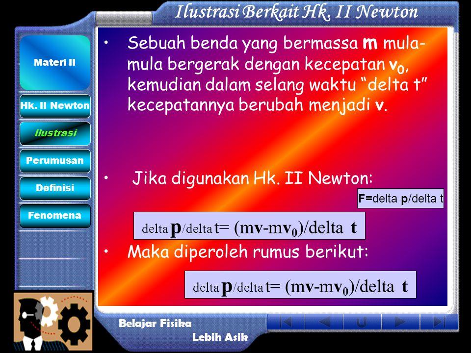 Ilustrasi Berkait Hk. II Newton
