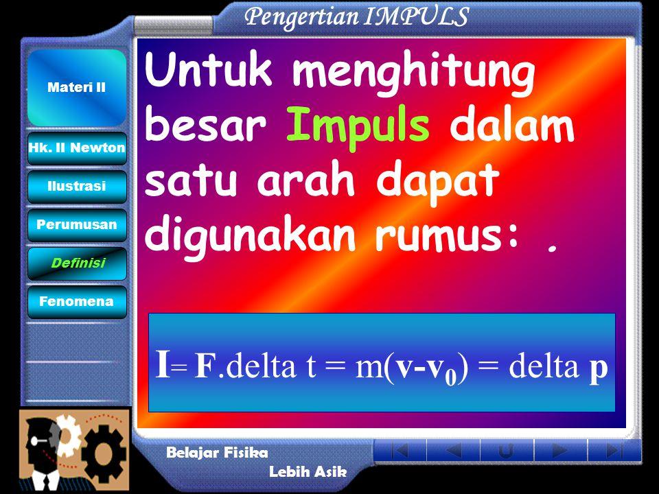 I= F.delta t = m(v-v0) = delta p
