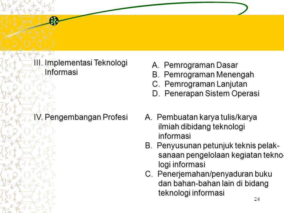 III. Implementasi Teknologi