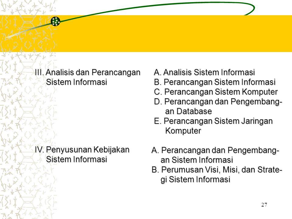 III. Analisis dan Perancangan