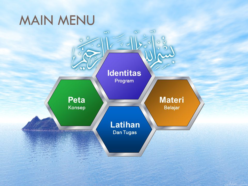 MAIN MENU Identitas Peta Materi Latihan Program Konsep Belajar
