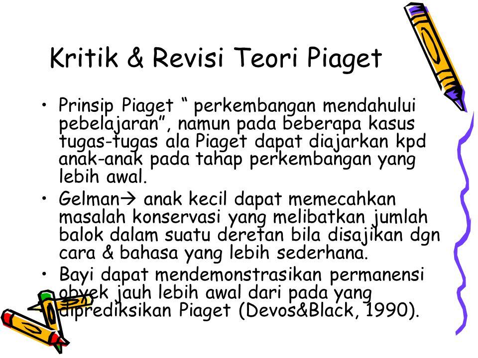 Kritik & Revisi Teori Piaget