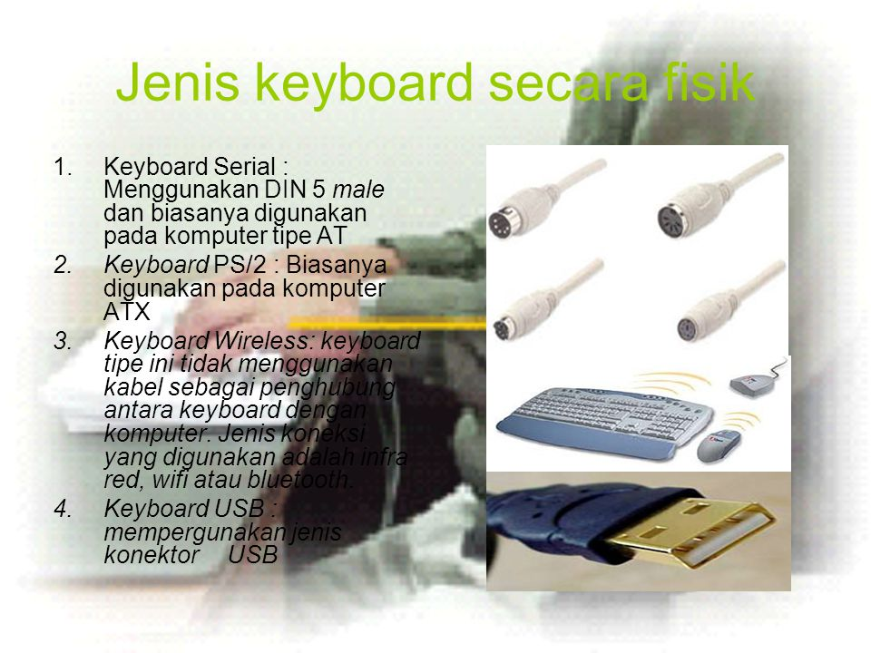 Jenis keyboard secara fisik