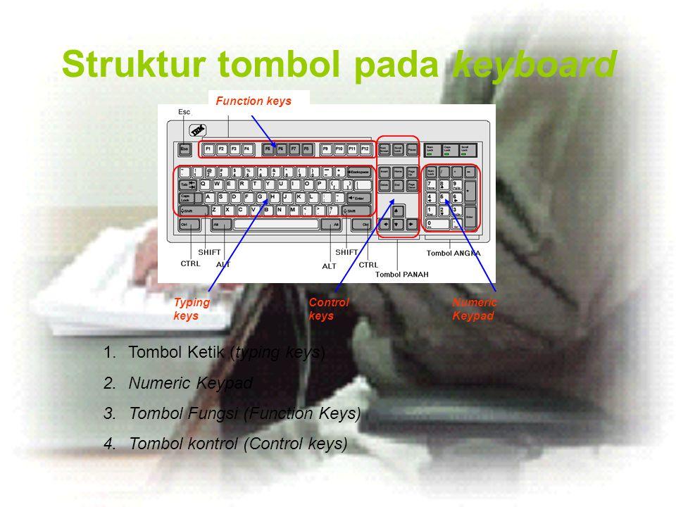 Struktur tombol pada keyboard