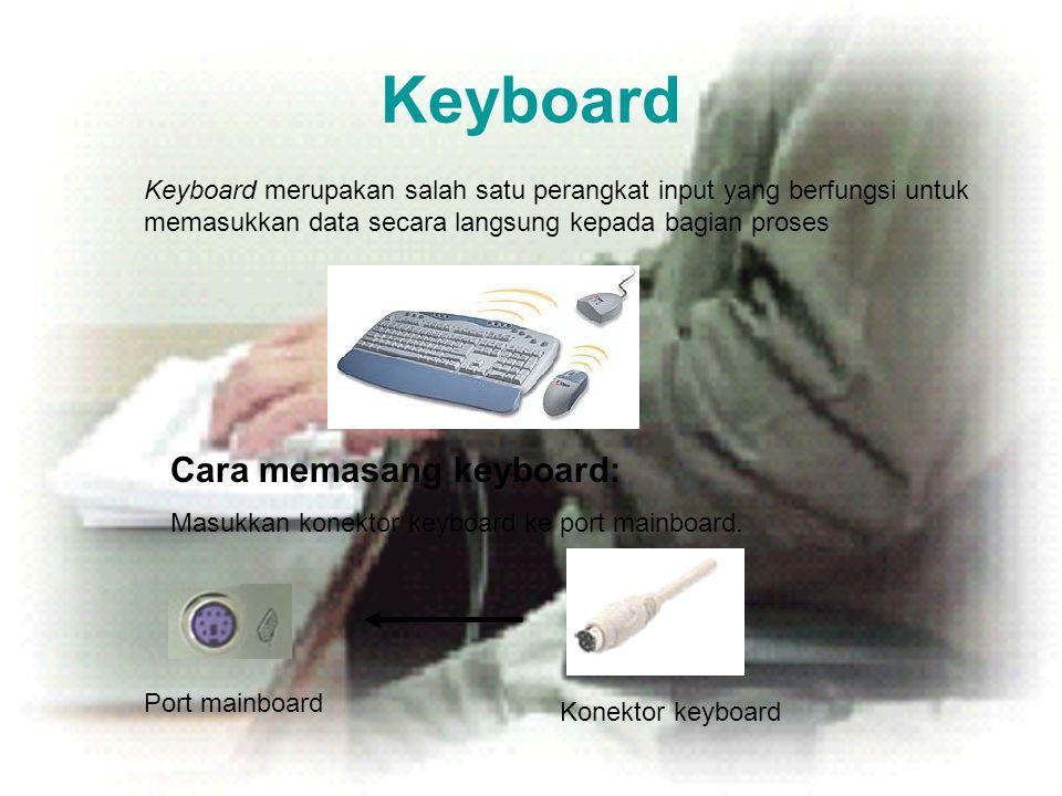 Keyboard Cara memasang keyboard: