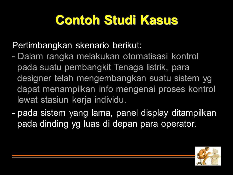 Contoh Studi Kasus Pertimbangkan skenario berikut: