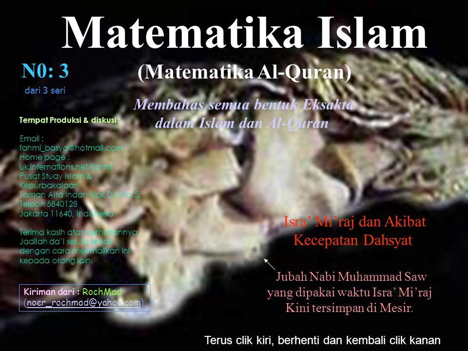 (Matematika Al-Quran) dalam Islam dan Al-Quran