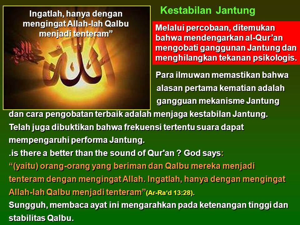 Ingatlah, hanya dengan mengingat Allah-lah Qalbu menjadi tenteram