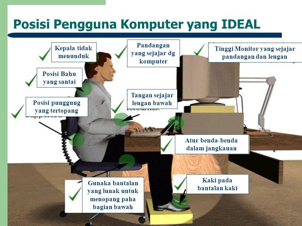 Posisi Pengguna Komputer yang IDEAL