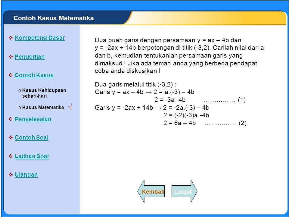 √ Contoh Kasus Matematika