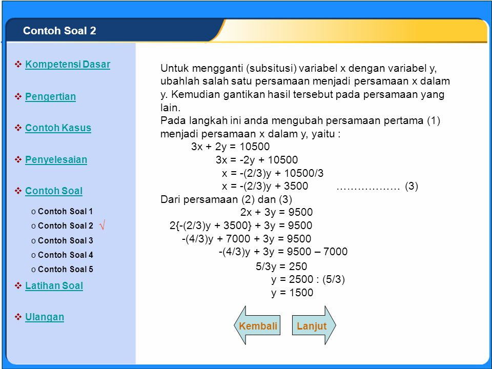 Contoh Soal 2 Kompetensi Dasar.