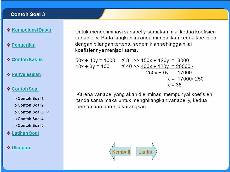 Contoh Soal 3 Kompetensi Dasar.