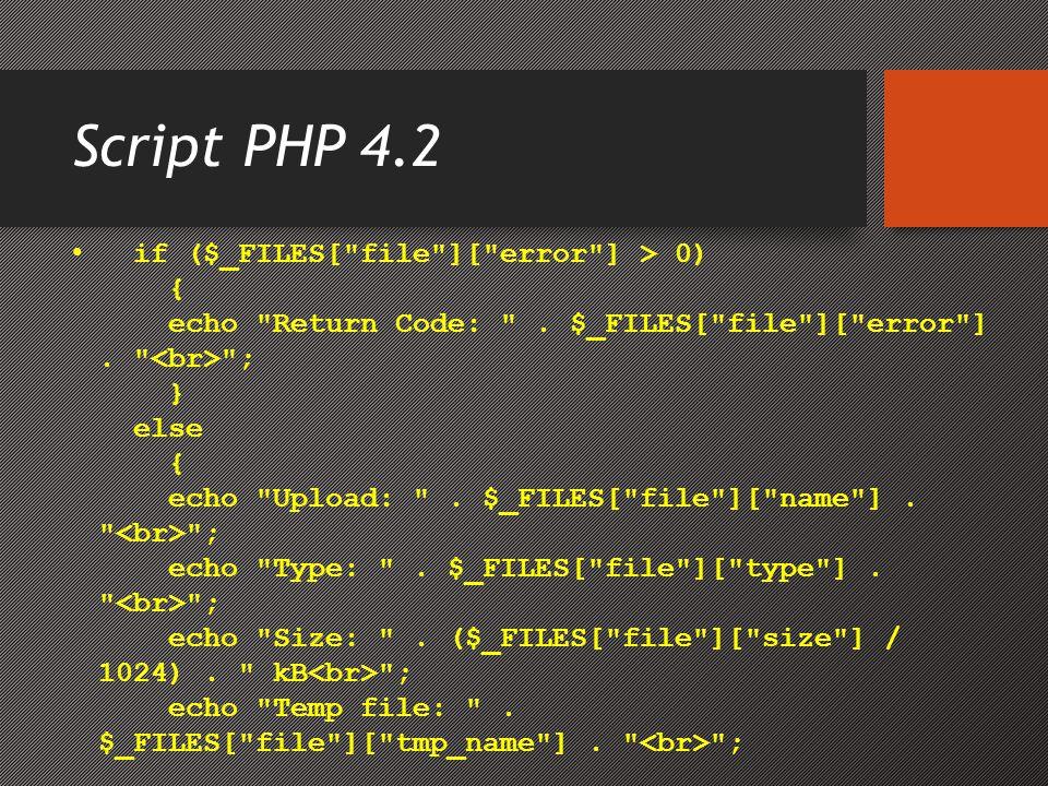 Script PHP 4.2