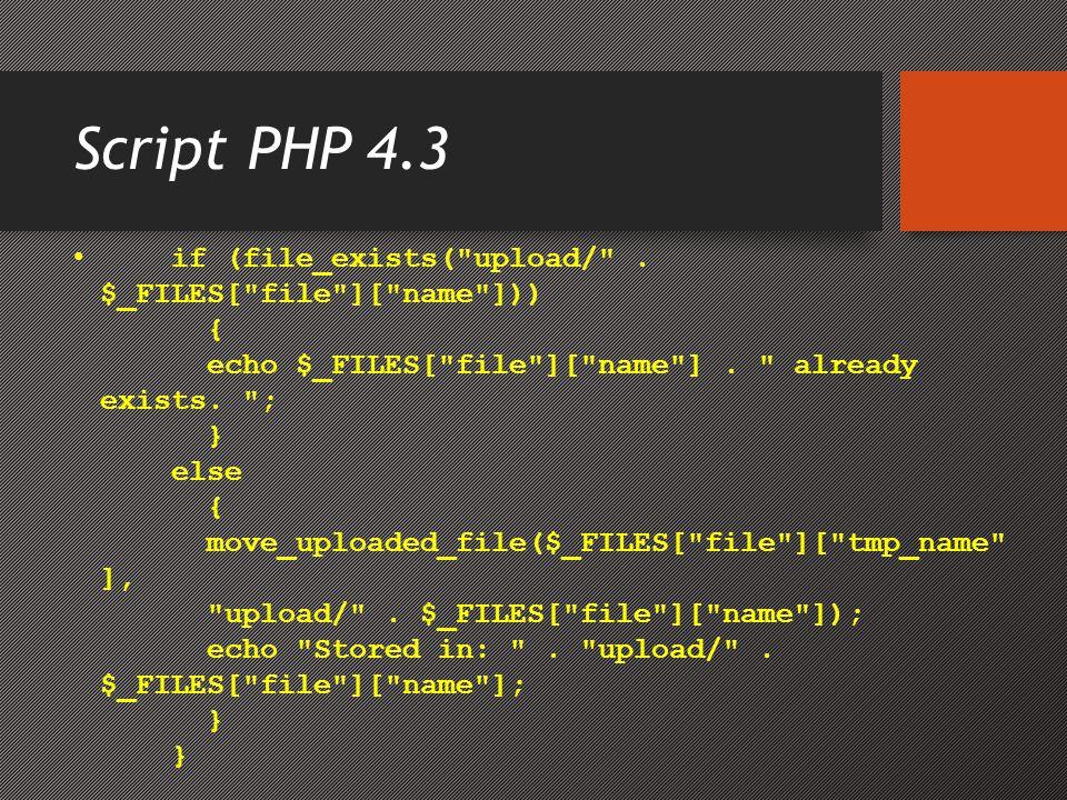 Script PHP 4.3