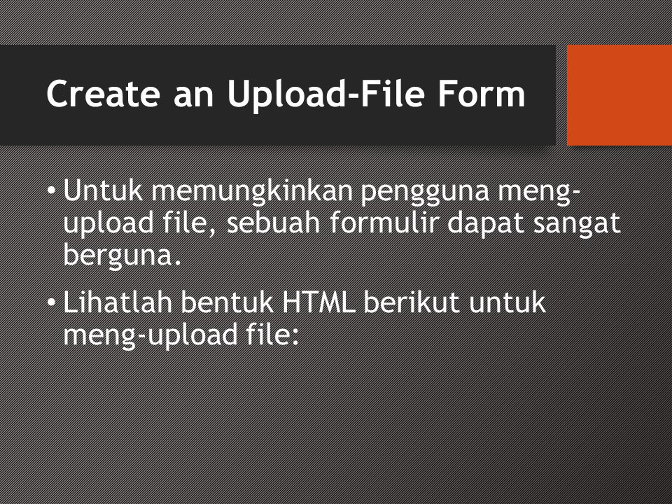 Create an Upload-File Form
