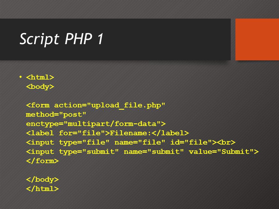 Script PHP 1