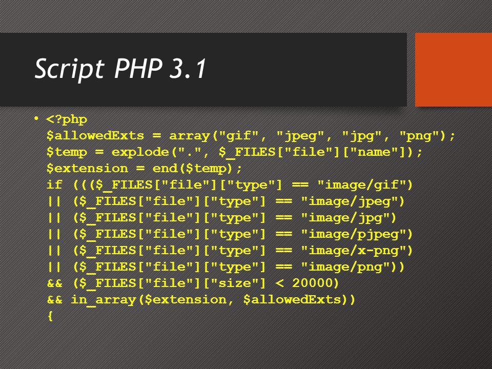 Script PHP 3.1