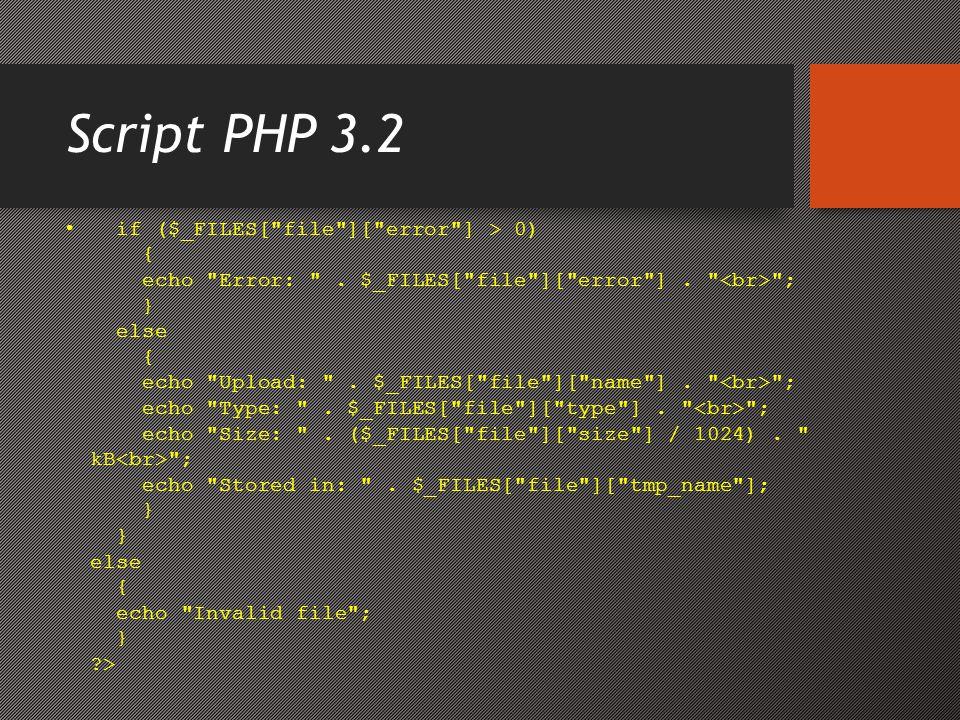 Script PHP 3.2