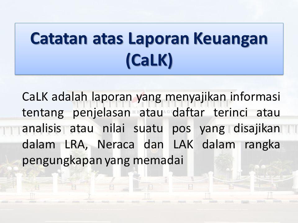Catatan atas Laporan Keuangan (CaLK)