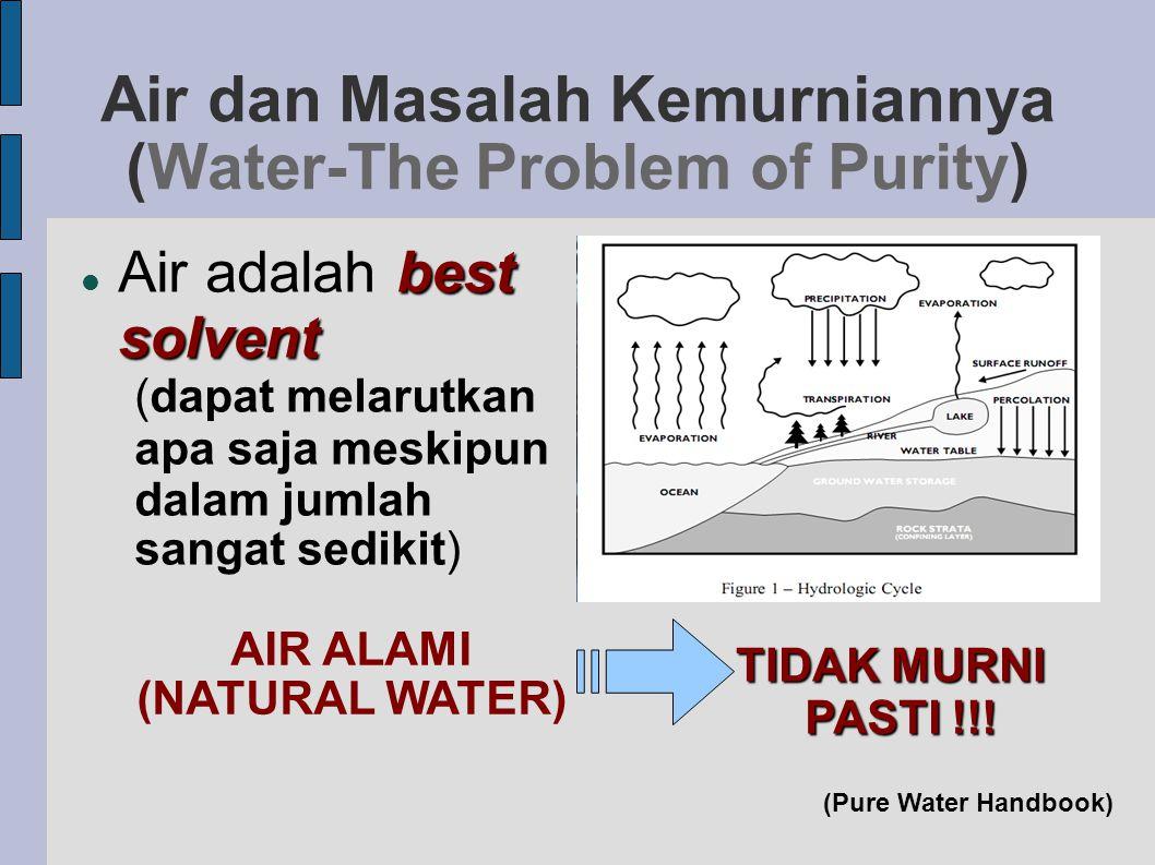 Air dan Masalah Kemurniannya (Water-The Problem of Purity)