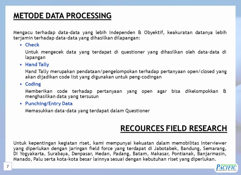 PROSES SURVEI Client's Briefing REPORT INTERPRETATION/ ANALYSIS DATA