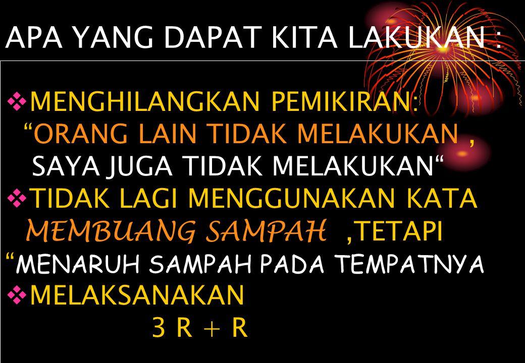 PENANGANAN SAMPAH JAKARTA (BPS/2001)
