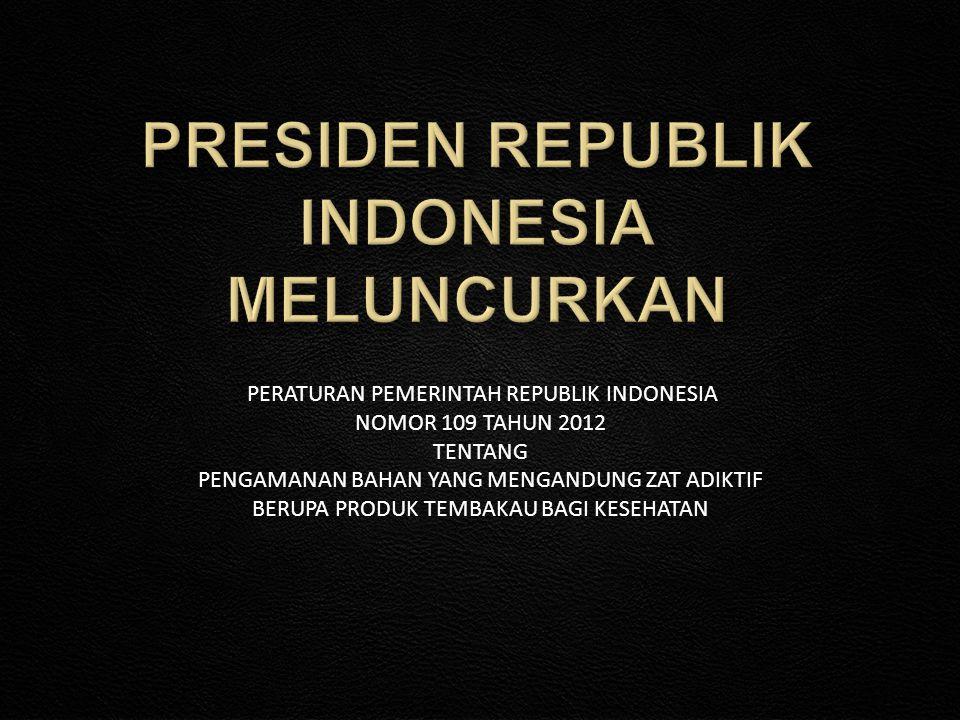 PRESIDEN REPUBLIK INDONESIA MELUNCURKAN