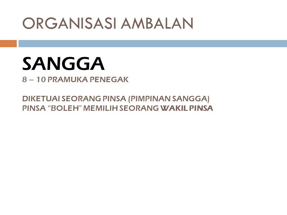 SANGGA ORGANISASI AMBALAN 8 – 10 PRAMUKA PENEGAK