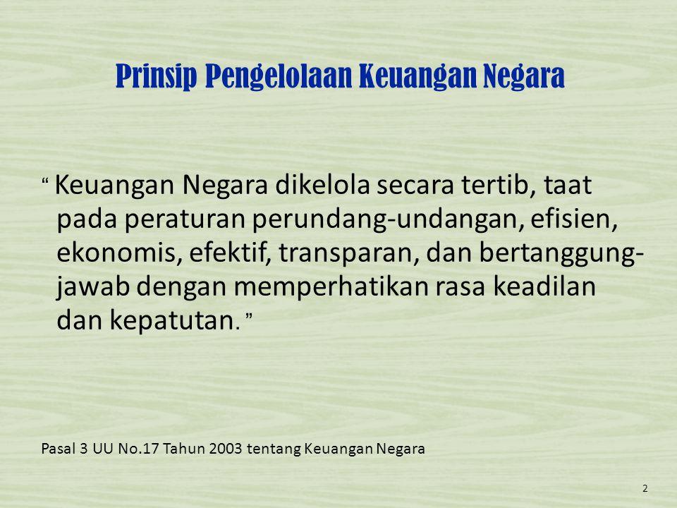 Prinsip Pengelolaan Keuangan Negara